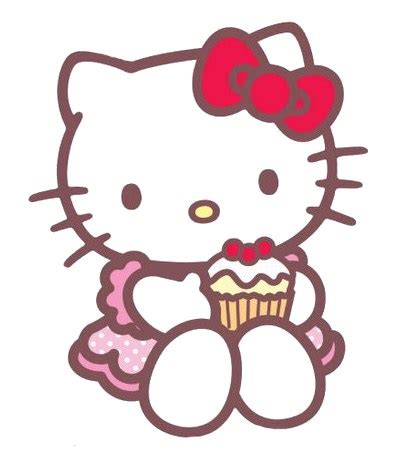hello kitty cake wallpaper hello kitty with a cupcake kawaii cupcakes pasteles