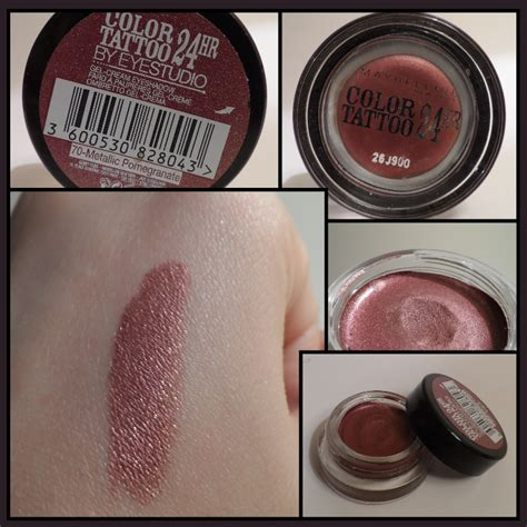 maybelline color tattoo swatch color maybelline new york 70 metallic