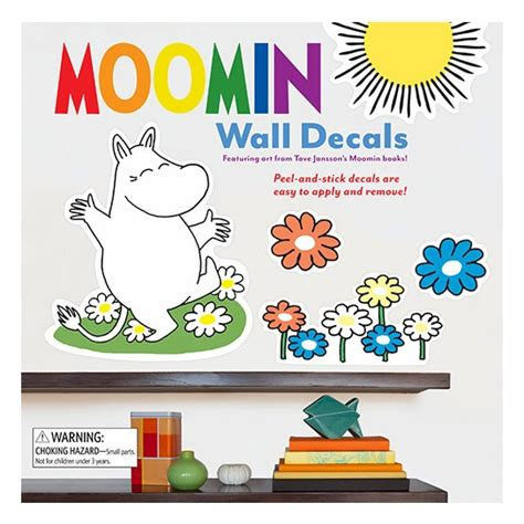 moomin peel and stick removable wall decals moomin