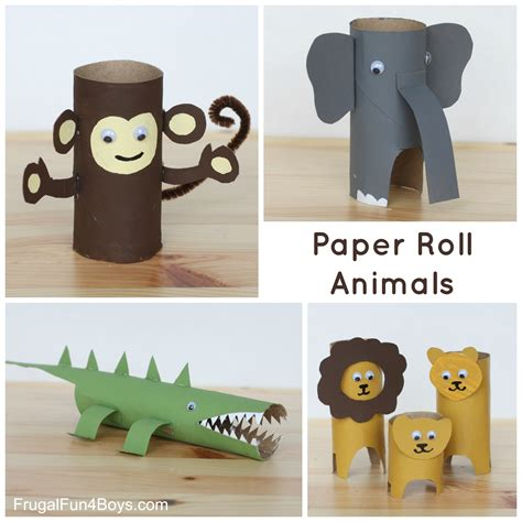How To Make Paper Craft Animals - 25 crafts and activities for using everyday materials