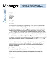manager cover letter exles cover letter exle account manager covering letter exle