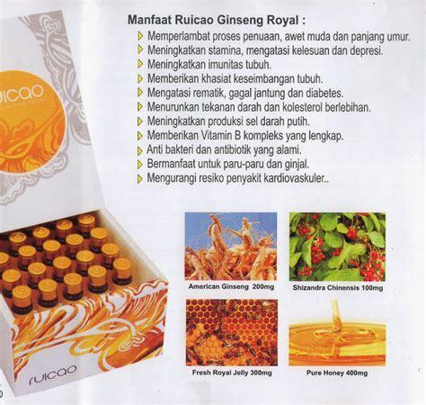 Ruicao Ginseng Royal keajaiban produk ruicao dari mygoldenduck produsen herbal terbaik