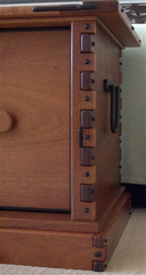 greene greene inspired blanket chest  drawers