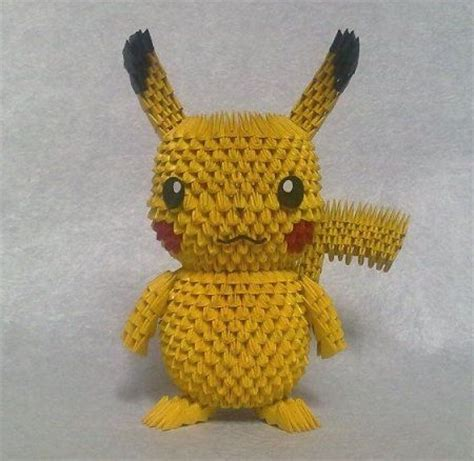 3d origami pikachu the world s catalog of ideas