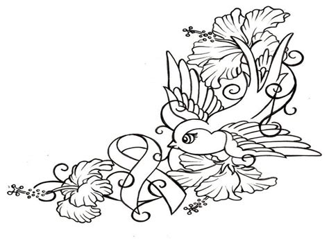 cancer ribbon coloring page pink pages grig3 org