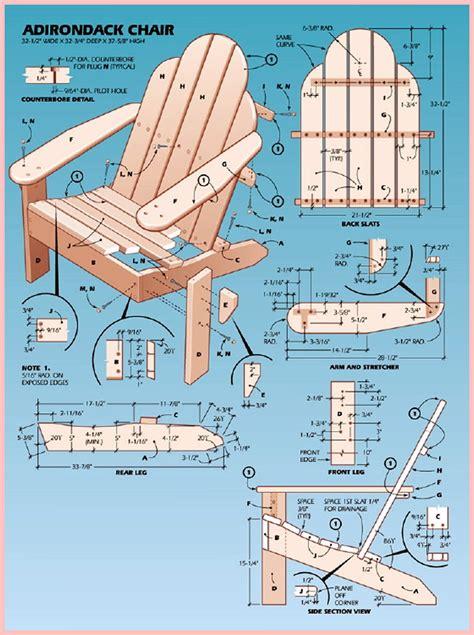 plans diy adirondack chair pattern  kitchen