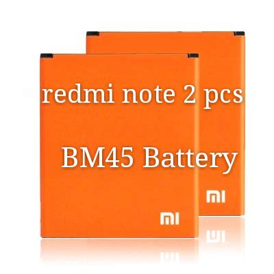 Replacement Battery For Xiaomi Redmi Note 2 3020mah Original Bm45 1 original xiaomi redmi note 2 battery 2 pcs bm45 battery 3020mah new replacement accessories in