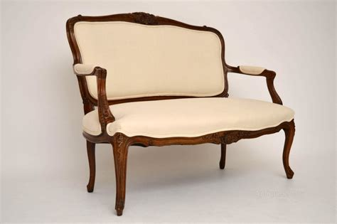 Antique Settee Antique Carved Walnut Upholstered Settee Antiques