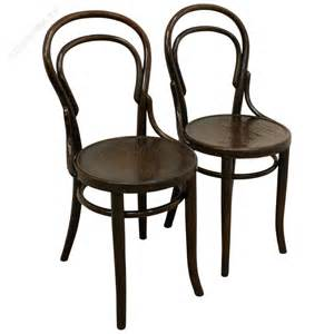 thonet bench pair of thonet bentwood chairs antiques atlas