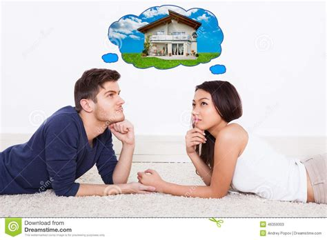 Design Your Dream House Free couple thinking of dream house stock photo image 46359303