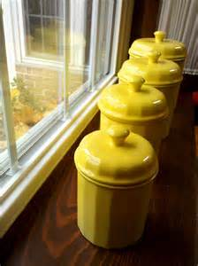 yellow kitchen canister set yellow canister set