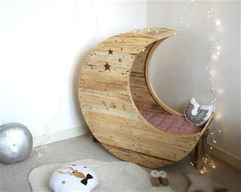 Diy Moon Shaped Cradle 1 - diy pallet moon shaped baby cradle 99 pallets