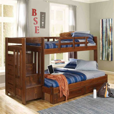bunk beds twin over full with stairs bunk bed with stairs and desk