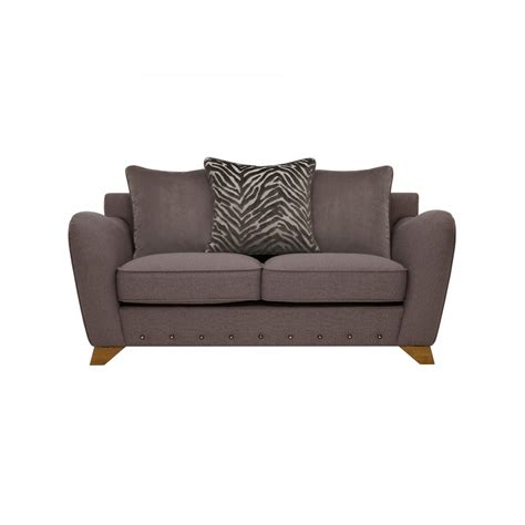 2 seater pillow back sofa in fabric oak furniture land