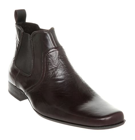 mens boots office mens office skyline chelsea boot choc leather boots ebay