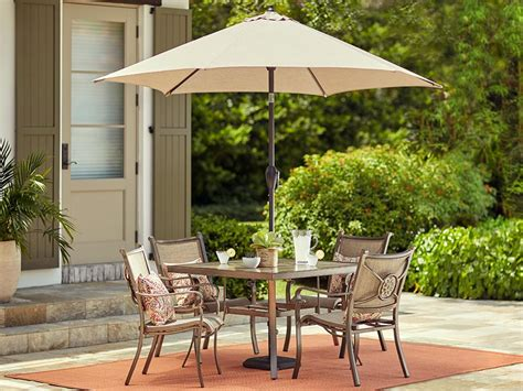patio set umbrella patio furniture outdoor furniture the home depot canada