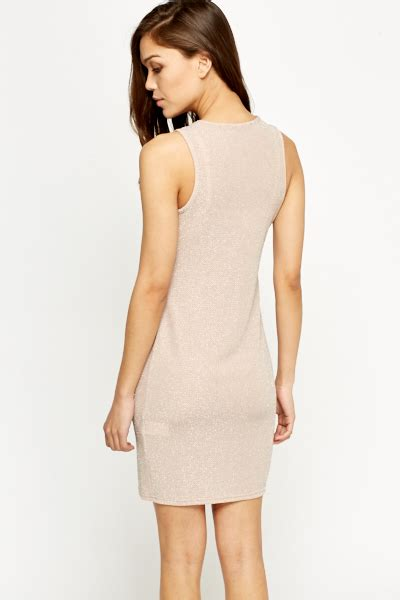 light pink metallic dress metallic light pink bodycon dress just 163 5