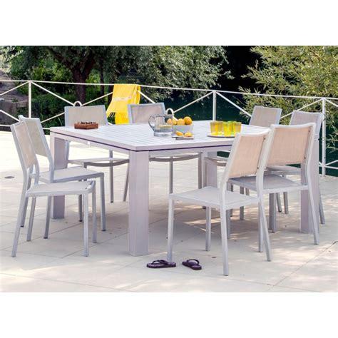 chaise de jardin florence en aluminium brush proloisirs