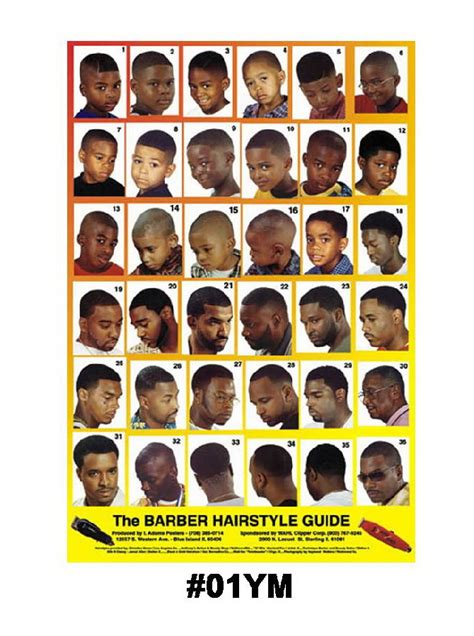 Barber Hairstyle Guide by 01ym Mens Hairstyle Guide Poster Barber Depot