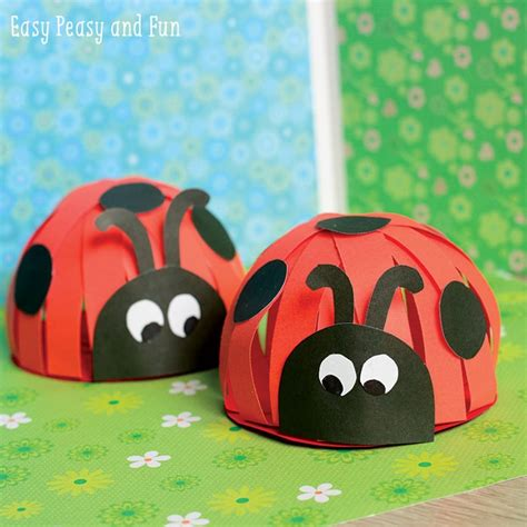 ladybug paper craft paper ladybug craft easy peasy and