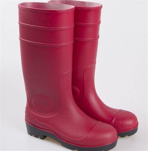 pvc boots safety boot steel toe pvc boot work farm boots