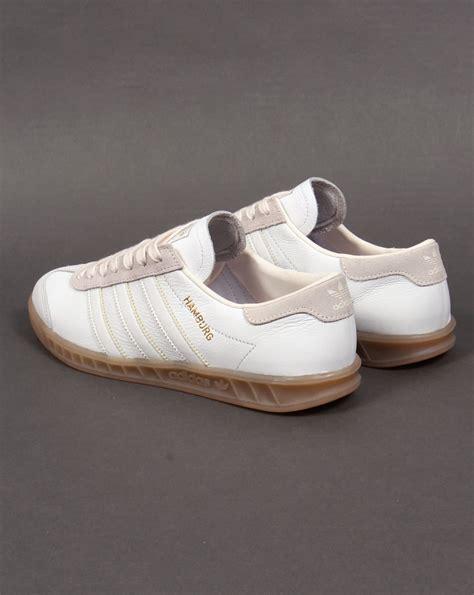adidas hamburg original adidas hamburg white trainers leather gum originals