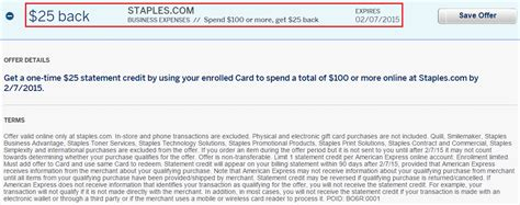 American Express Gift Card Staples - american express platinum staples com offer and chase ritz carlton statement credits