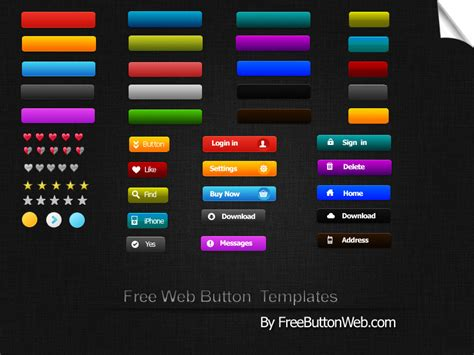 psd templates free for photoshop 30 free psd button for web designer
