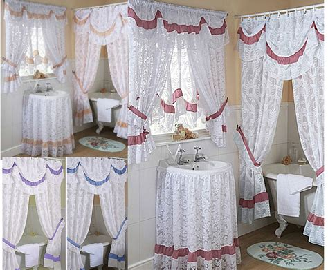 Bad Gardinen by Chantilly Lace Bathroom Shower Or Window Curtains Mock