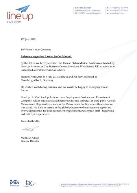 Confirmation Letter Hereby Razvan Marinel Letter Of Recommendation