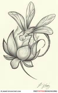 Lotus Flower And Dragonfly 50 Dragonfly Tattoos
