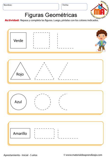 ejercicios de figuras geometricas ficha con ejercicios de figuras geom 233 tricas para ni 241 os de
