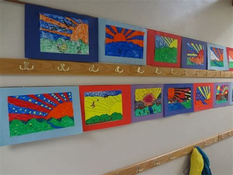 themes and projects gallery the talking walls peter max artist lesson for grades 3 6