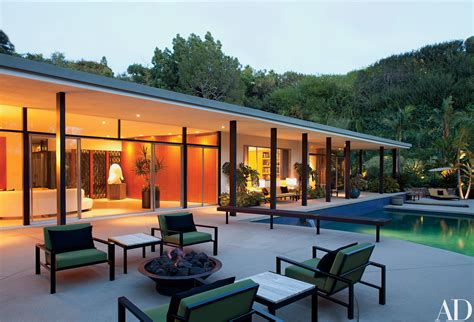 renaissance themed living room living area patio unit the villa a midcentury home in beverly hills receives a modern