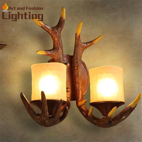 Deer Lights by Resin Antler Wall L Loft Style Deer Design Corridor Lights For Studio Bar Club In Led Indoor