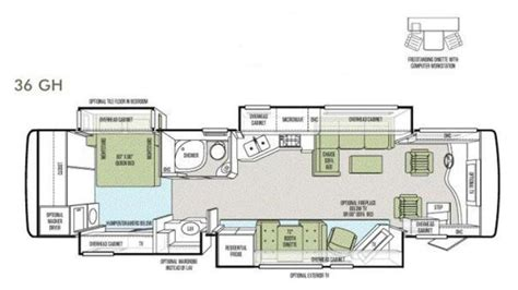 Floor Plans For My Home 2012 tiffin phaeton 36gh tiffin motorhomes for sale by owner