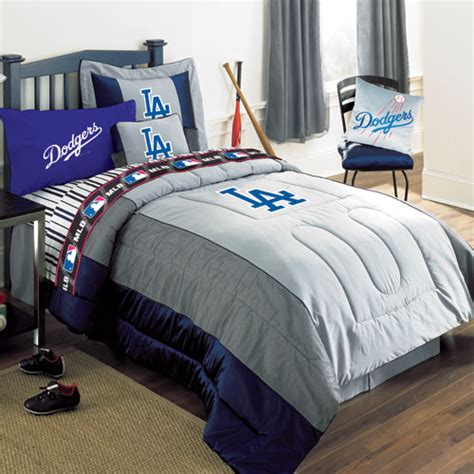 baseball comforter set los angeles dodgers mlb authentic team jersey bedding twin