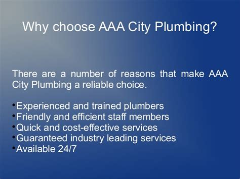 Aaa City Plumbing by Aaa City Plumbing Reviews Why Trust Us