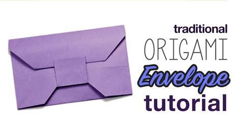 youtube tutorial origami traditional origami envelope video tutorial paper kawaii