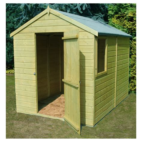 8x6 Pressure Treated Shed by Finewood 8x6 Pressure Treated Wooden Shiplap Apex Shed Inc