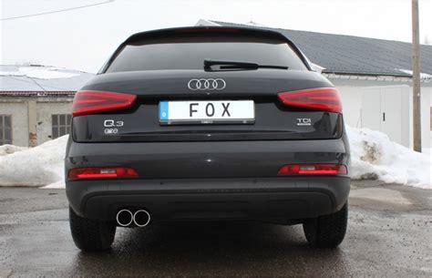 Audi Q3 Sportauspuff by Fox Sportauspuff Audi Q3 8u 2 0l Tdi Endrohr 2x80mm Rund