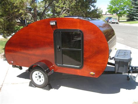 187 garage built wyoming woody teardrop trailer with