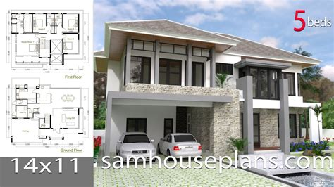 sketchup modern home design plan size xm youtube