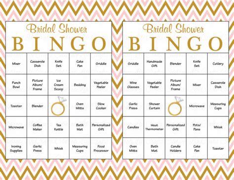 printable bridal shower games bingo 60 bridal bingo cards blank 60 prefilled cards