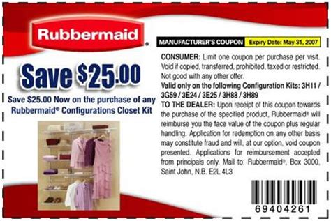 Coupon Closet by Rubbermaid Canada Coupon Configurations Closet Organizer