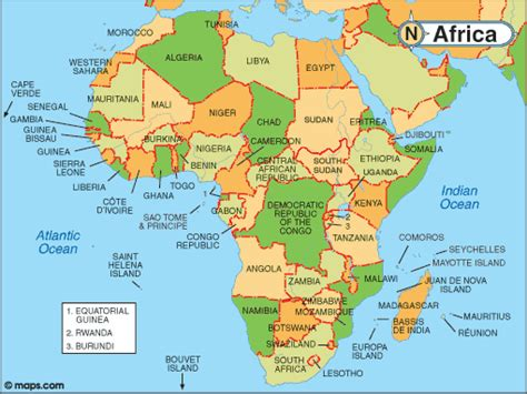 countries of africa map map of africa with facts statistics and history