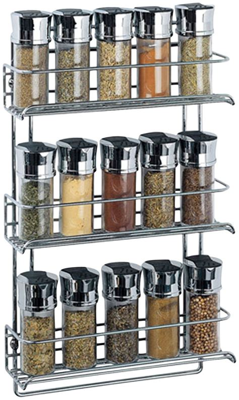 1812 3 tier wall mounted spice rack chrome casa