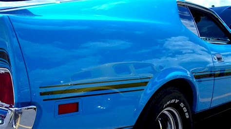 grabber blue 1972 mach 1 ford mustang fastback mustangattitude photo detail