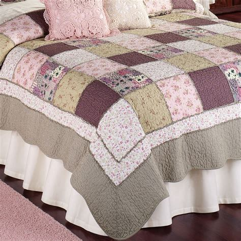 Floral Patchwork Quilt - sugarplum cotton floral patchwork quilts