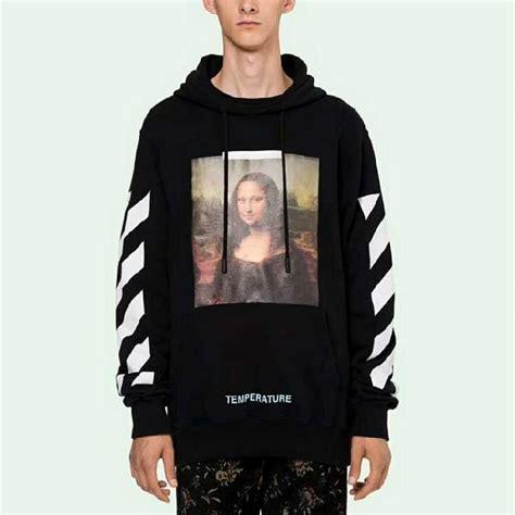 Mona Cc white mona printing black hoodie
